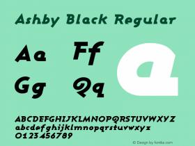 Ashby Black Regular 1.0图片样张