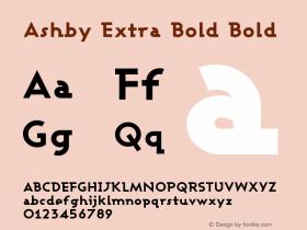 Ashby Extra Bold Bold Version 001.000图片样张