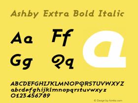 Ashby Extra Bold Italic Version 001.000图片样张