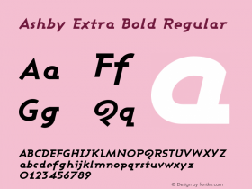 Ashby Extra Bold Regular 1.0图片样张