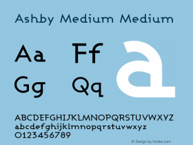 Ashby Medium Medium Version 001.000图片样张