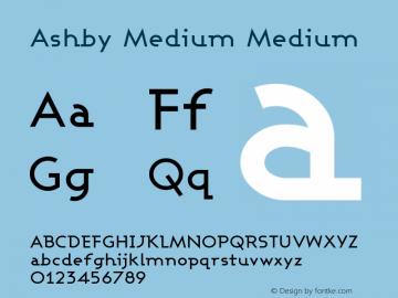 Ashby Medium Medium Version 001.000 Font Sample