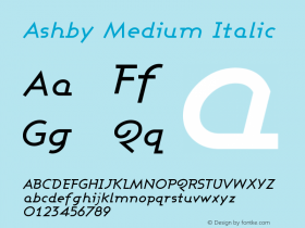 Ashby Medium Italic Version 001.000图片样张