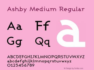 Ashby Medium Regular 1.0 Font Sample