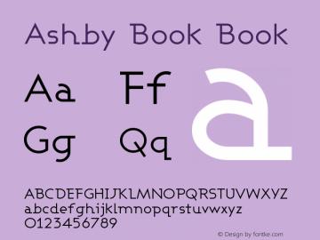 Ashby Book Book Version 001.000 Font Sample