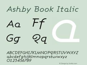 Ashby Book Italic Version 001.000图片样张