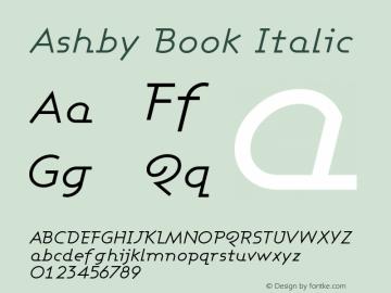 Ashby Book Italic Version 001.000 Font Sample