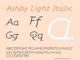 Ashby Light Italic Version 001.000图片样张