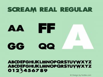 Scream Real Regular 1.1图片样张
