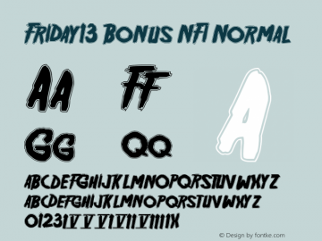 Friday13 Bonus NFI Normal Version 001.001 Font Sample