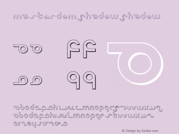 Masterdom Shadow Shadow 1 Font Sample