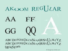 akoom Regular Macromedia Fontographer 4.1 25/12/2001图片样张