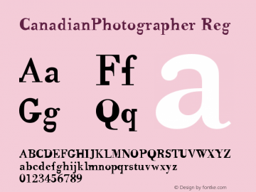 CanadianPhotographer Reg Version 001.000图片样张