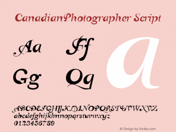 CanadianPhotographer Script Version 001.000图片样张