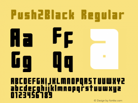 Push2Black Regular 2001; 1.0, initial release图片样张