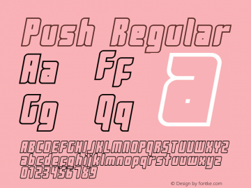 Push Regular 2001; 1.0, initial release图片样张