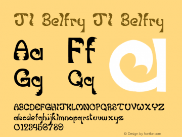 JI Belfry JI Belfry Unknown Font Sample