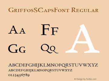 GriffosSCapsFont Regular 1.0 Font Sample