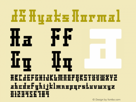 DS Ayaks Normal Version 1.0; 2002; initial release Font Sample