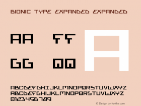 Bionic Type Expanded Expanded 1 Font Sample