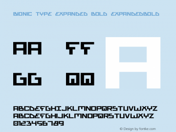 Bionic Type Expanded Bold ExpandedBold Version 1图片样张
