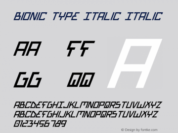 Bionic Type Italic Italic Version 1图片样张