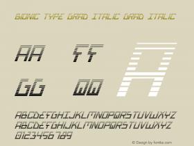 Bionic Type Grad Italic Grad Italic 1图片样张