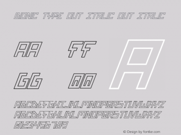 Bionic Type Out Italic Out Italic 1图片样张
