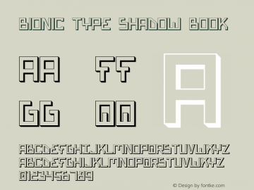 Bionic Type Shadow Book Version 1 Font Sample