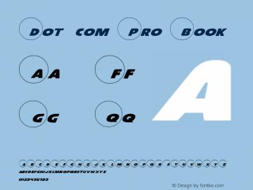 Dot.com Pro Book Version 1 Font Sample