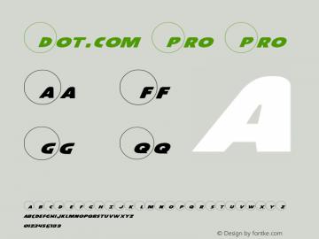 Dot.com Pro Pro 1 Font Sample