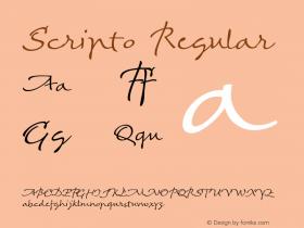 Scripto Regular Version 001.003图片样张