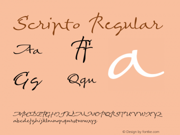 Scripto Regular Version 001.003 Font Sample