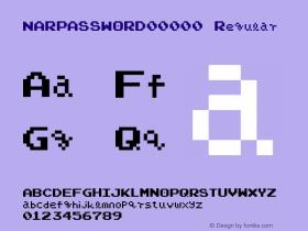 NARPASSWORD00000 Regular v2.75 - (( xero harrison - http://fontvir.us ))图片样张