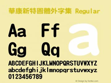 華康新特圓體外字集 Regular Version 2.00图片样张