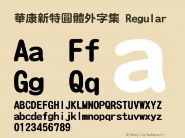 華康新特圓體外字集 Regular 1 Aug., 1999: Unicode Version 1.00图片样张