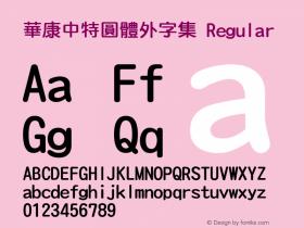 華康中特圓體外字集 Regular Version 2.00图片样张