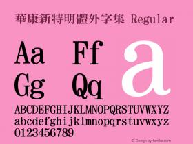 華康新特明體外字集 Regular Version 2.00图片样张