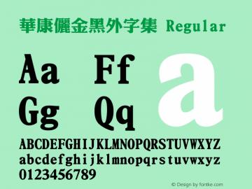華康儷金黑外字集 Regular Version 2.00 Font Sample