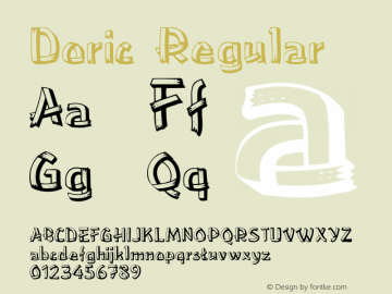 Doric Regular Unknown Font Sample