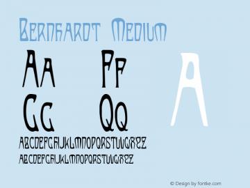 Bernhardt Medium Version 001.000 Font Sample