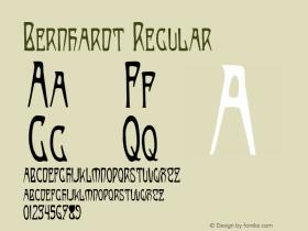 Bernhardt Regular Altsys Fontographer 4.0.3 8/19/97图片样张