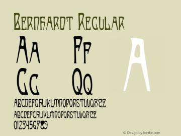 Bernhardt Regular Altsys Fontographer 4.0.3 8/19/97 Font Sample