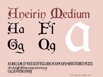 Aneirin Medium Version 001.000 Font Sample