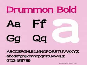Drummon Bold Version 001.000 Font Sample
