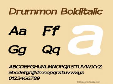 Drummon BoldItalic Version 001.000 Font Sample