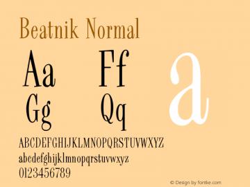 Beatnik Normal Version 001.000 Font Sample