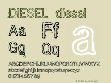 DIESEL diesel Typeface of the Band DIESEL! (www.diesel.art.br) Font Sample