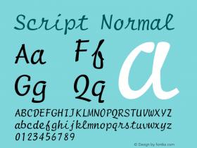 Script Normal Version 001.000 Font Sample