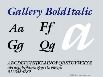 Gallery BoldItalic Version 001.000 Font Sample